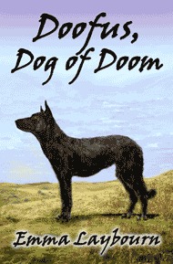The cover of Doofus Dog of Doom by Emma Laybourn, a free children's adventure ebook