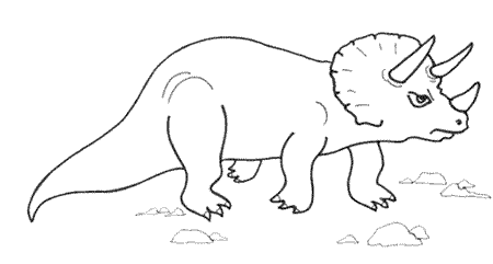An annoyed-looking triceratops